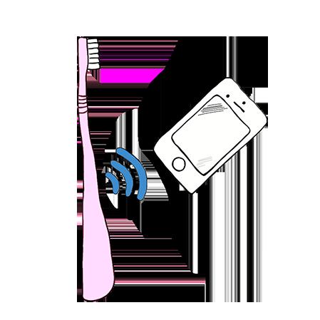 Zeichnung smarte Zahnbürste